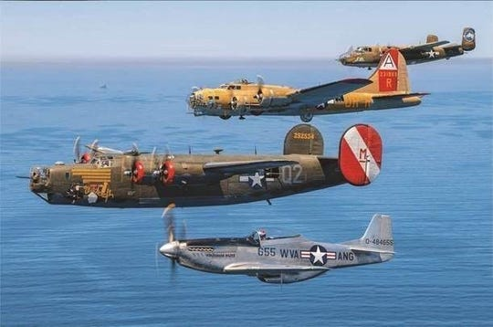 World War II aircraft will be on display at Millville Airport from 2 to 5 p.m. Aug. 28, 9 a.m. to 5 p.m. Aug. 29 and 9 a.m. to noon Aug. 30.