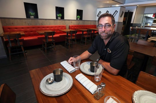 Vincent Corso, general manager of operations for Westchester Burger Co., at their newest location in Scarsdale Aug. 21, 2019. The restaurant has an updated look and will open in mid-September.