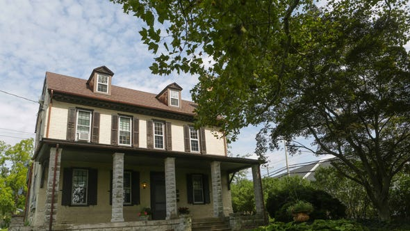 The front of Stonum, a National Historic Landmark property located at 900 Washington St., near Old New Castle, was George Read's country home. The home sits on half of an acre of land and is on the market for $449,500.