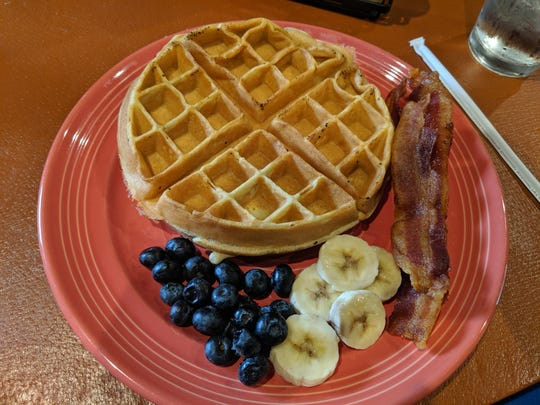 Sweet cream waffle at the ER Cafe.