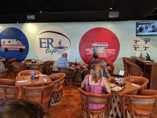 Inside the ER Cafe.