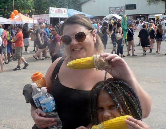 You are good if you can walk, carry things and eat sweet corn, all at the same time.