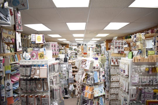 Christy's store is located on Main Street and is full to the brim of scrapbooking materials and supplies.
