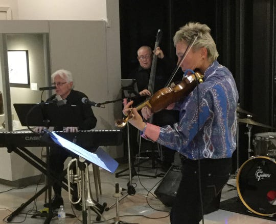 Laura Schumann performs with the Muskingum Jazz Group last November at the Zanesville Museum of Art. The museum recently received a $6,000 grant to continue the concert series this season.