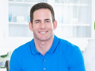 As seen on Flipping 101, house flipping guru, Tarek El Moussa poses for a portrait at a home that is setting up for an open house.