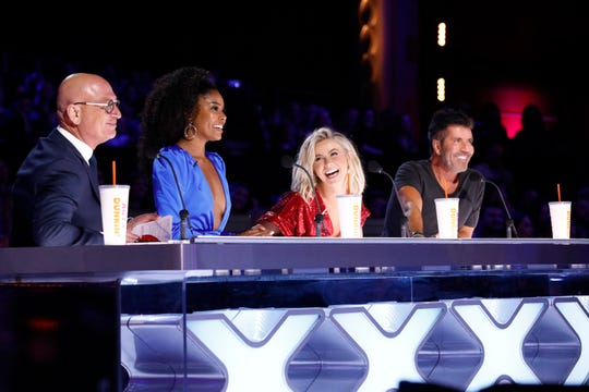 """America's Got Talent"" judges Howie Mandel, Gabrielle Union, Julianne Hough and Simon Cowell whittle down contestants in the quarterfinals on Aug. 20."