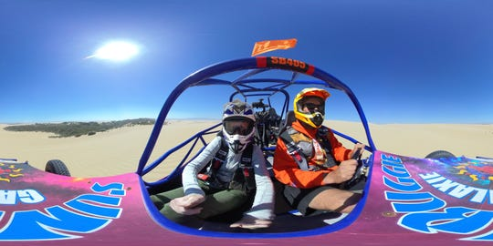 A state park near Pismo Beach, California, welcomes rented dune buggies to drive on the beach.