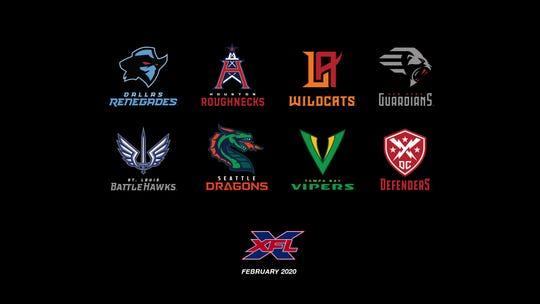 XFL team logos