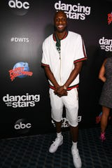 """Lamar Odom is introduced Wednesday as a member of the cast for the upcoming season with """"Dancing with the Stars."""""""