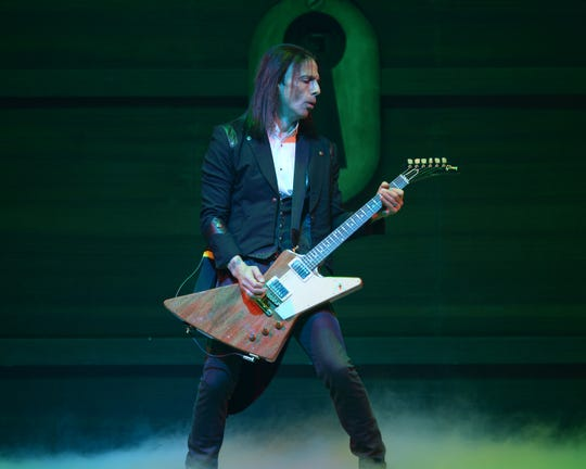 Al Pitrelli of Trans-Siberian Orchestra performs at BB&T Center in December 2014 in Sunrise, Florida.