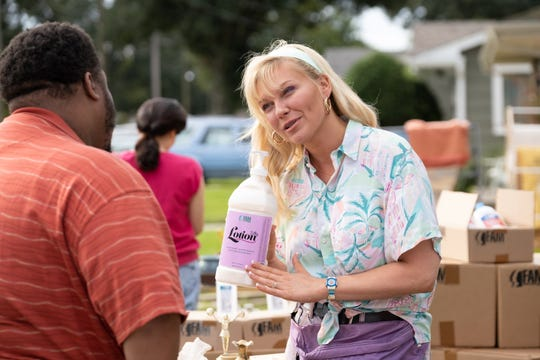 "Krystal Stubbs (Kirsten Dunst) discovers her knack for sales at the start of ""On Becoming a God in Central Florida's"" 10-episode first season."