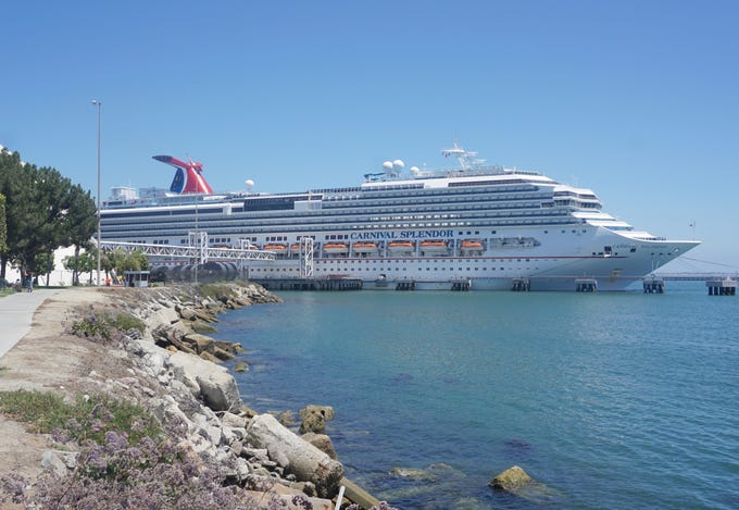 The 113,300-gross-ton Carnival Splendor was built for Carnival Cruise Line in 2008. Unique within the Carnival fleet, the 3,006-passenger vessel was originally ordered for Carnival's Costa Cruises subsidiary but completed for Carnival.