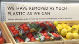 "British supermarkets are starting to go ""nude."" Bowing to pressure from environmentally conscious consumers, big brand shops have begun taking steps to strip their shelves of plastic wrapping over concerns about saving the oceans from waste."