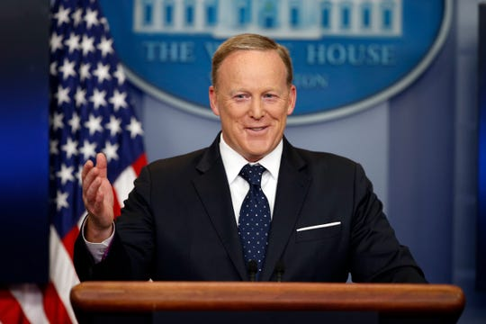 Former presidential press secretary Sean Spicer will be without a lectern when he takes the floor in Season 28 of ABC's 'Dancing with the Stars.'