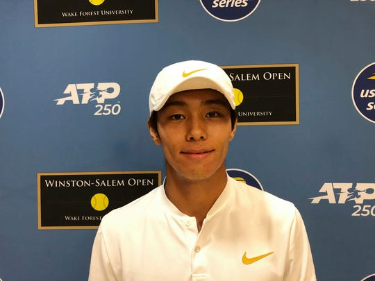 Deaf tennis player, South Korea's Duckhee Lee, wins match to make ATP Tour history