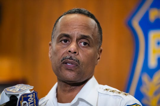 Philadelphia Police Commissioner Richard Ross speaks during a news conference on July 18, 2019.