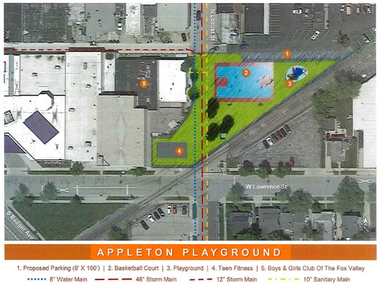 The Boys & Girls Club of Appleton wants to build a basketball court and playground east of Locust Street.