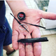 Did surf angler's fishing rod get struck by lightning at Island Beach?