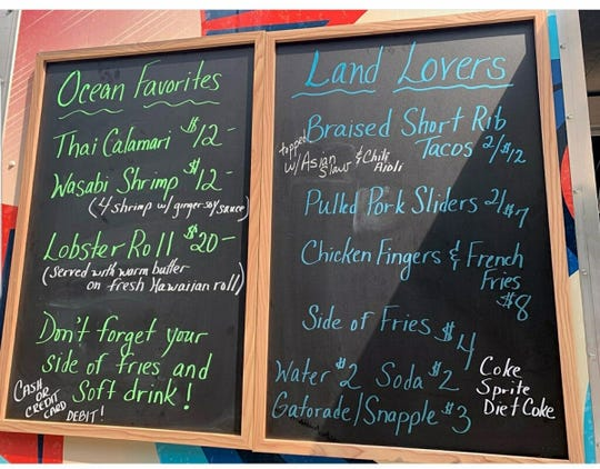 A sample menu from The Ohana Food Truck.