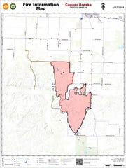 Map of Copper Breaks Fire