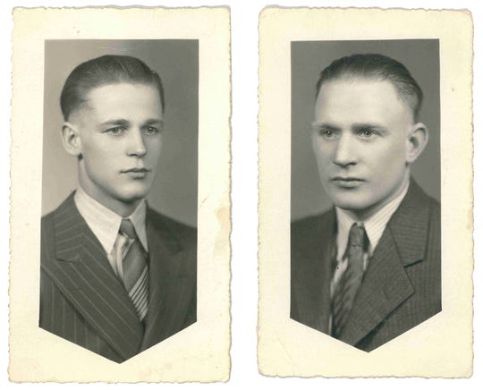 The Palmer brothers, Calvin, left, and Wilfred, right, were killed in the attack of the USS Oklahoma during Pearl Harbor in 1941. Their remains were recently identified through their sister's DNA and returned to relatives in Port Orchard.