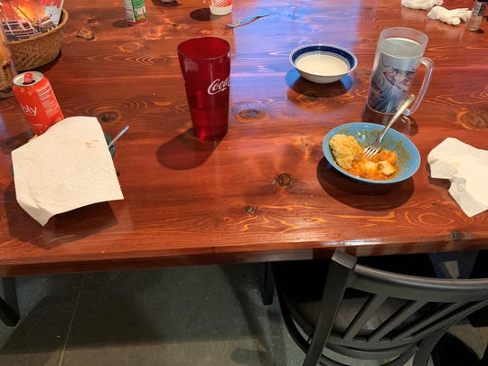 Rockledge firefighters leave their half-eaten dinner on the table when they get a call.