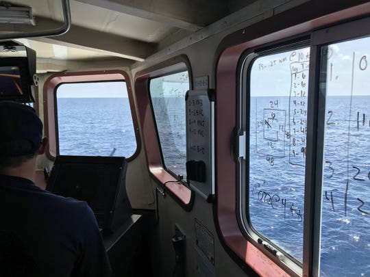 Coast Guard continues searching for Brian McCluney and Justin Walker Aug. 21, 2019.