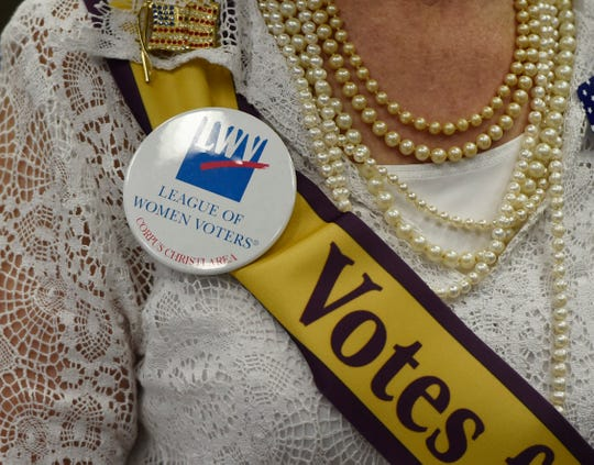 The League of Women Voters host a luncheon commemorating the 99th anniversary of the women's right to vote, Thursday, Aug. 22, 2019, at Del Mar College.