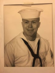 A photo of Larry McKillip during his time in the United States Navy. McKillip served in the military for five years during the Vietnam War and earned the rank of petty officer second class.