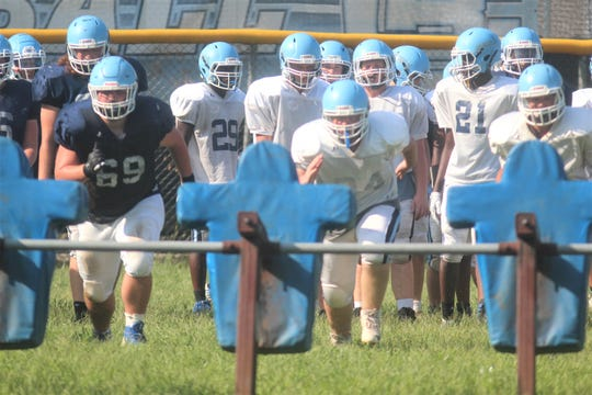 Boone County football practice, August 21, 2019