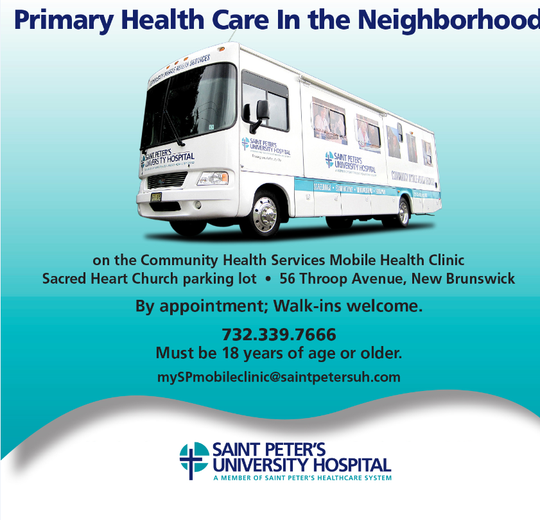 The Community Health Services staff of advance practice nurses and registered nurses travels to neighboring communities throughout Middlesex and Somerset Counties, in particular those areas where health care services may be limited.
