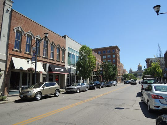 A view of East Locust Street, which has been added to the National Register of Historic Places.