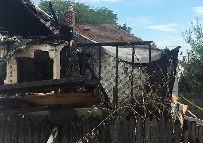 The aftermath of a house explosion on the 13400 block of Cunningham near Fort Street in Southgate on Thursday, Aug. 22, 2019.