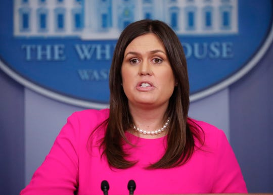 White House press secretary Sarah Huckabee Sanders speaks to the media during the daily briefing in this June 25, 2018, file photo. Sanders, who once sparred with journalists, has decided to join Fox News to provide political commentary and analysis.