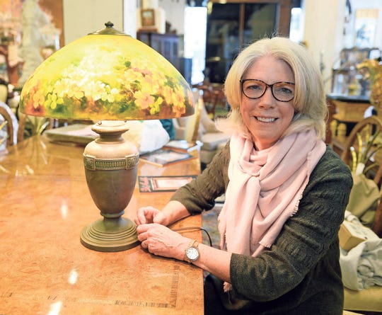 Janet Miller with her Handel Lamp.