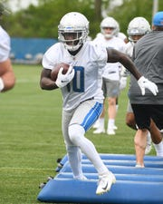 Lions wide receiver Brandon Powell leads the team in catches (five) and receiving yards (80) this preseason.