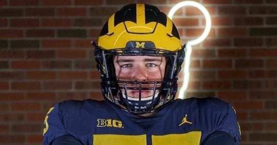 Columbine (Colo.) tackle Andrew Gentry is visiting Michigan for its Oct. 26 showdown with Notre Dame.