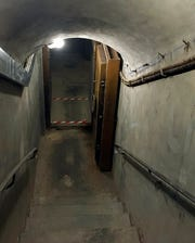 This photo taken on Aug. 14, 2019 in Paris shows the secret 26 meters, 100 steps, underground complex that served as headquarters for Henri Tanguy, alias Col. Rol, chief of the French Forces of the Interior of the Paris region.