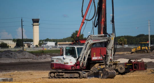 Ground work has begun at the site of the new air control tower at Southwest Florida International Airport. The Lee County Port Authority hosted a groundbreaking ceremony Thursday, August 22, 2019, for the new tower at RSW. The overall project cost will be $80 million and will be funded with money from the Florida Department of Transportation and airport passenger facility charges.
