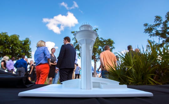 The Lee County Port Authority hosted a groundbreaking ceremony Thursday, August 22, 2019, for a new Airport Traffic Control Tower at Southwest Florida International Airport. The overall project cost will be $80 million and will be funded with money from the Florida Department of Transportation and airport passenger facility charges.
