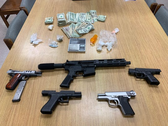 Detectives executed a search warrant at the home of Antwan Rakeem Thomas, 28, at 2855 Winkler Avenue #108 in Fort Myers. Inside the apartment investigators found a variety of illegal drugs and five firearms, including one which was stolen.