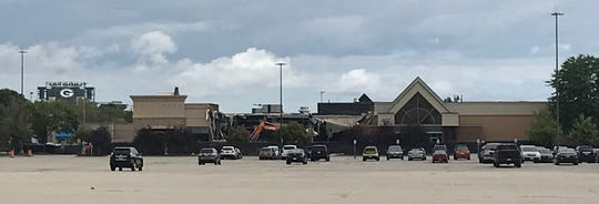 Demolition currently underway at Bay Park Square Mall will create space for a new Dave & Busters restaurant on the mall's west side.