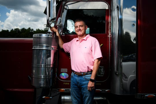 Vernon Rutland, transportation manager at Swafford Trucking, poses for a portrait Thursday, Aug. 22, 2019.