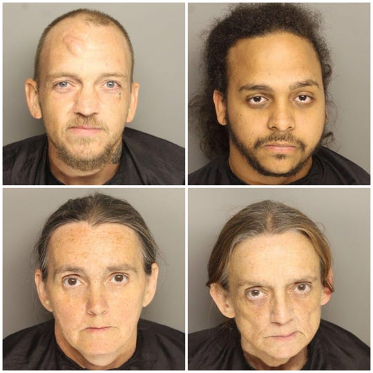 From top left: Michael Eugene Towery, Justin Charles Kilpatrick, Catherine Melinda Short and Donna Marie Short.
