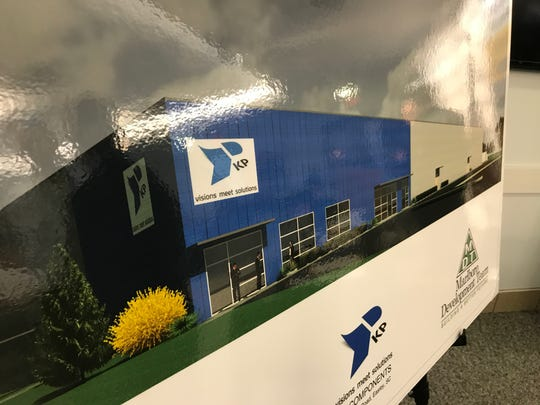 A rendering of the building that will house KP Components, a manufacturer of precision parts that will locate in Pickens County.