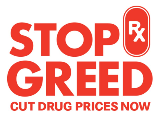 "The AARP launched a ""Stop Rx Greed"" campaign earlier this year."