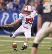 FILE -- Former Center Grove High School senior Nathanael Snyder (99) is now on scholarship at IU.