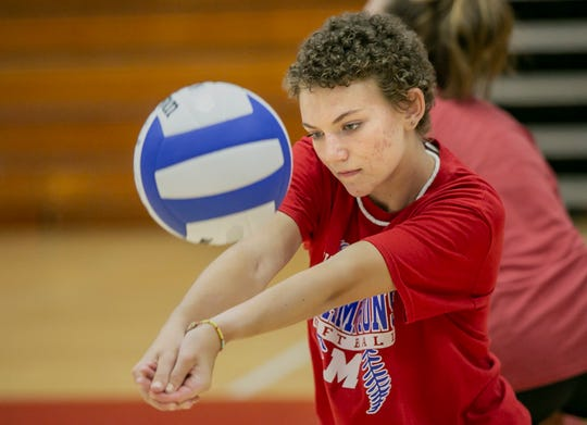 Bridget Balcerak, a senior volleyball player at Martinsville high school, is back on the court after missing all of the last season battling Hodgkin lymphoma and undergoing a stem-cell transplant.