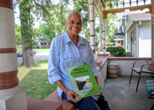 Dolores Wisdom, an independent historian who recently published a book about an neighborhood she has researched, seen here at her home on Tuesday, August 20, 2019.