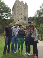 Then-Indiana Gov. Mike Pence and First Lady Karen Pence and their three children are shown in front of Blarney Castle in 2013.